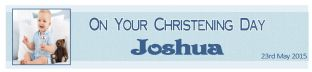 Personalised Boy Christening Banner Design 2